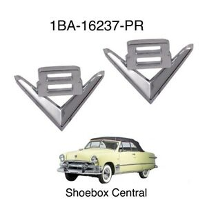 1951 Ford V8 Fender Emblem Badges New