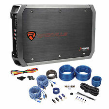 Rockville RXA-F1 1600 Watt Peak/800w RMS 4 Channel Car Stereo Amplifier+Amp Kit