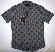 Merc London Camisa Para Hombre Lunares Rayas en Azul Marino Talla M Nuevo Con Etiquetas
