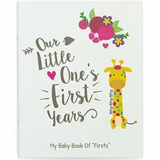 First Year Baby Memory Book & Journal - Modern Baby Shower Gift Keepsake For New