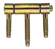 Einbohrband 3-Teilig Haustürbänder Türband 20 mm Drill-in hinge door hinges