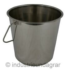 Edelstahleimer 5,7 L 5 ltr Edelstahl Eimer Wasser Milch Lebensmittel Stalleimer