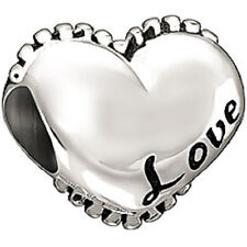 Authentic NEW Chamilia Sterling Silver I LOVE YOU Bead Charm 2010-3087