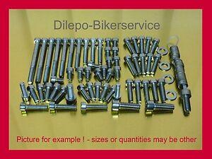 Triumph Speed Triple 955i / 595 N stainless steel bolt kit motor cover screw kit