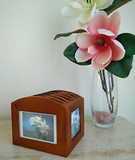 BRAND NEW Wooden Photo Box CD DVD Storage Box Perfect Gift for the Coffee Table