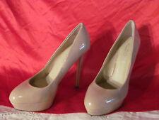 "Aldo Ladies 5"" Spike Platform  Heels Tan leather Size 7"