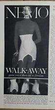1959 women's Nemo walk away high waist girdle garters vintage fashion ad