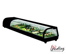New Curved Glass Sushi Showcase /Countertop Chilled Display Unit , 4x 1/3 GN Pan