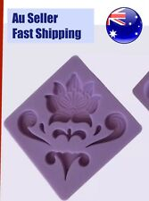 Vintage Cake Soap Ice Scroll Lace Border Silicone Mould Damask Mold Silicon