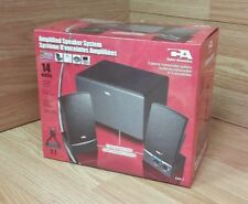 Cyber Acoustics (CA-31) 3-Piece Wired 2.1 Computer Speaker System **NEW**
