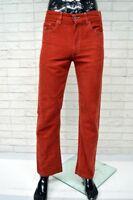 Pantalone HENRY COTTONS Uomo Taglia 44 Cotone Jeans Gamba Dritta Rosso Man Pants