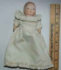 5� Antique Reproduction All Bisque Baby Doll - Jointed