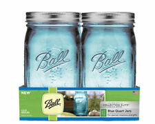 4 Ball BLUE QUART JARS - COLLECTION ELITE COLOR SERIES - In Original Package