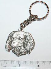 "Cavalier King Charles Spaniel Rawcliffe Pewter ""I Love My Dog"" Vintage Keychain"