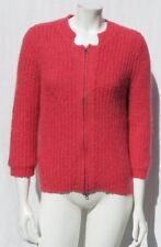 Cabi #620 Rose Laine Douce Mohair Cardigan Grosse Maille Veste Pull TAILLE M Euc