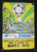Affiche football match FCN Nantes Nice 19 décembre 1987 stade Beaujoire
