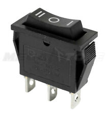 NEW SPDT ON-OFF-ON Rocker Switch w/Black Actuator KCD3 20A/125VAC - USA SELLER!