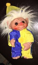 Norfin Troll 1977 Thomas Dam Clown Made in Denmark Original clothes & tag