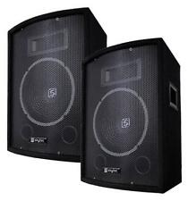 "1000W DJ PA LAUTSPRECHER Party BOXEN PAAR 10""/25cm Bass Disco Party Skytec SL10"