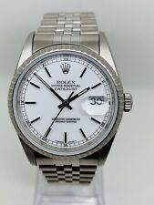 Vintage Rare Rolex Oyster Perpetual DateJust Rare White Porcelain Dial Ref.16220
