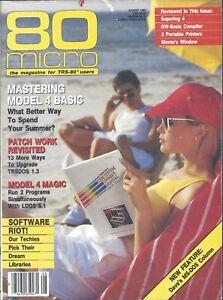 Radio Shack Tandy TRS-80, 80 Micro Magazine, August 1985