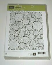 Stampin' Up TREE RINGS Clear Mount Stamp ~ XL Background ~ Wood Nature Masculine