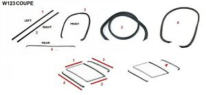 FIT FOR Mercedes Benz W123 COUPE Sunroof MOONROOF Seal Gasket Set 4 PCS