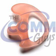 Left Medium Gel Ear Mold Semi Custom Flexible Open Insert Police Headset Tip
