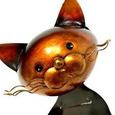 Metal Wine Caddy Cat Standing