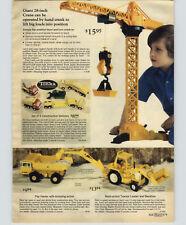 1976 PAPER AD Tonka Dump Truck Cement Mixer Matchbox Secret Mountain Winnebago