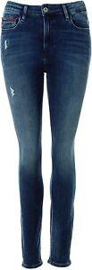 Tommy Hilfiger Denim Damen Jeans High Rise Skinny Santana Blue W28/L30 L5360