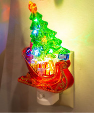 Roman Lights LED NIGHT LIGHT GIFTS / PRESENTS AND CHRISTMAS TREE IN A RED SLEIGH