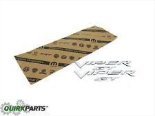 2015-2017 DODGE VIPER GT SIDE DOOR CHROME VIPER GT EMBLEM NAMEPLATE BADGE MOPAR