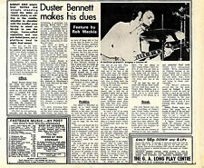(Sds)24/3/1973Pg10 Duster Bennett Article & Picture