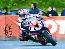 Lee Johnston Signed 2015 Isle of Man TT 16 X 12 picture & we can show you proof