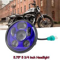 """5.75"""" Universal Blau LED Projektion DOT Scheinwerfer DRL Hi/Lo Beam für Harley"""