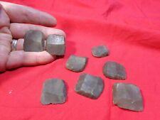 Set of 8 Flints for Flintlock Black Powder Firearms.