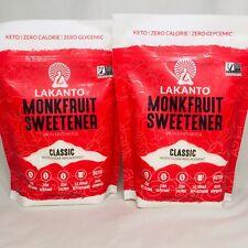 Lakanto Classic Monkfruit Sweetener Classic White 16 oz 1lb Keto zero Calorie x2
