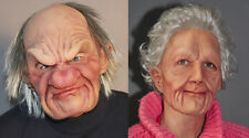 2 Supersoft Old Man & Woman Mask Adult Halloween Funny Couples Costume Masks
