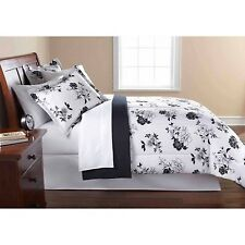Mainstays Black and White Floral Bed in a Bag Bedding Comforter Set New All Size