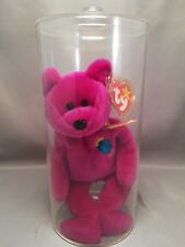 TY Beanie Baby - Millennium Bear with tag in Clear Plastic Display Box