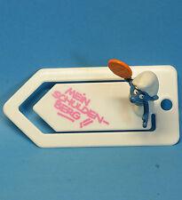 53753 GELD Schlumpf auf Briefklammer SCHLEICH smurf paperclip MEIN SCHULDENBERG