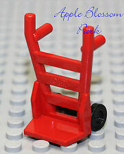 NEW Lego Minifig Tool RED HAND CART w/Black Wheels -Handcart Truck Vehicle Dolly