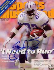 Emmitt Smith Dallas Cowboys SIGNED Sports Illustrated 9/18/95 COA!