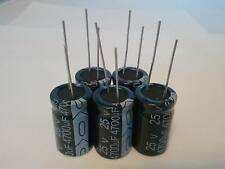 5 PCS 4700UF 4700mfd 25V Electrolytic Capacitor 105 degrees USA FREE SHIPPING