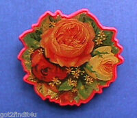 Hallmark PIN Valentines Vintage ROSES VICTORIAN Romance Flowers Holiday Brooch