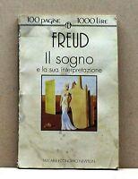 IL SOGNO E LA SUA INTERPRETAZIONE - Freud [libro, 100 pagine 1000 lire, newton]