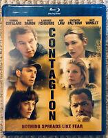 CONTAGION Blu Ray The Virus Movie Matt Damon Jude Law RARE OOP Sealed Brand NEW