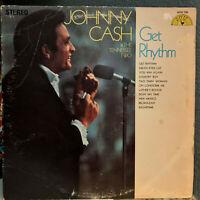 "JOHNNY CASH & THE TENNESSEE TWO - Get Rhythm (1969 SUN) 12"" Vinyl Record LP - VG"