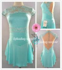 Ice Figure Skating Dress/Dance/Baton Twirling costume Outfit Custom W095